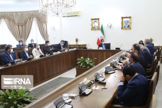 گزارش تصویری دیدار اعضای خانه صنعت، معدن و تجارت ایران با معاون اول رییس جمهور