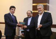 در حاشيه همايش فرصت هاي اقتصادي ايران و اقليم كردستان؛ ديدار رييس خانه صنعت،معدن و تجارت ايران با نخست وزير كردستان