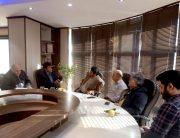 نشست مشترک جعفری مدیر عامل بورس مازندران و رضوی رییس خانه صنعت,معدن و تجارت استان